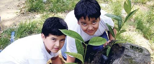 Niños dan ejemplo del cuidado de la naturaleza