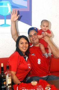 Fredy Enrique Cancino y su familia.