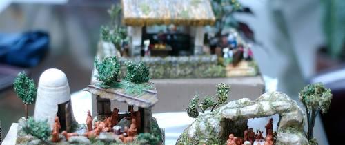 El artista de los pesebres en miniatura