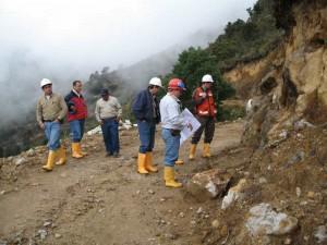 Mineros del proyecto Angostura