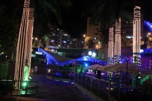 El Parque del Agua iluminado