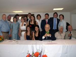 Rafael Pérez Martínez estuvo acompañado de sus hijos, nietos y demás familiares.