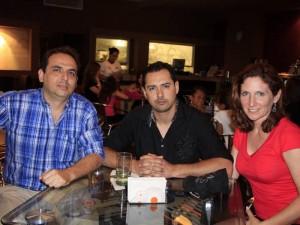 Giovanni Álvarez, Javier Morales y Laura Brucker. Foto: Mauricio Villamizar / GENTE DE CABECERA