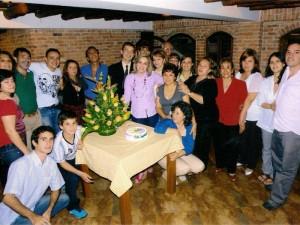 A la celebración asistieron sus mejores amigos, entre ellos integrantes de la Fundación Seminarios Caminos.