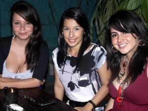 Silvia Sepúlveda, Carolina Bayona y Diana Rincón.