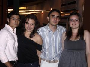 Mario Fernández, Tatiana Flechas, Andrés Felipe Prada y Diana Franco.