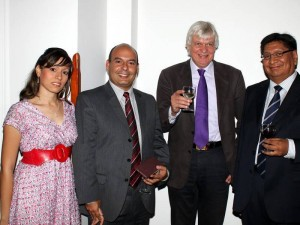 Karol Torres, Omar Bohórquez, Marteen Bebolanda y Javiér Flórez.
