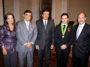 Óscar Rueda García, Viceministro de Turismo; Rafael Marín Valencia, Presidente del Consejo Directivo de la Fundación Teatro Santander, y Carlos Andrés De Hart Pinto, Viceministro de Desarrollo Empresarial.