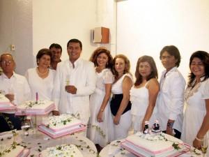 Noé Saavedra, Irma Suárez de Saavedra, Gerdo Saavedra, Chucho Saavedra, Esperanza Saavedra, Nancy Virviescas, Nohemí Saavedra, Jairo Saavedra y Miriam Saavedra.