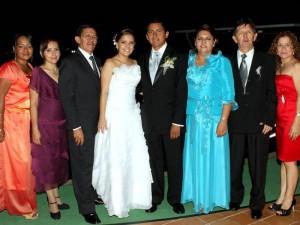 Elizabeth Elles, Herminda Mantilla, Javier Amaya, Bibiana Anaya, Edgar Amaya, María Teresa Barrero, Henry Anaya y Lenis María Elles.