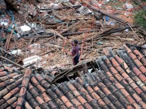 Así avanzaba la demolición a las 6:51 a. m. (Foto suministrada por: Pastor Virviescas)