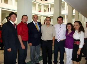 Franklyn Silva, Fabián Méndez, gobernador Horacio Serpa, Jorge A. Gómez, John Maury Monares, Ana Milena Torres y Olga Viña.