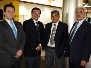 Victor Julio Azuero Díaz, Roberto Schmalbach y Julio Alfredo Martínez Bustos.