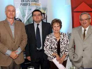 Franz Mutis Caballero, Sergio Luna Navas, Cecilia Reyes de León y Henry Ramírez León.