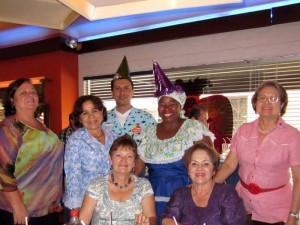 Martha Eugenia Rueda, Esperanza Arias, Esther Balaguera de Albornoz, Yolanda Rodríguez y Else Cartagena.