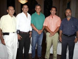 Alfonso Zambrano, Sergio Galvis, Gustavo Loza, José Fernando Chaves y Libaniel Coy.