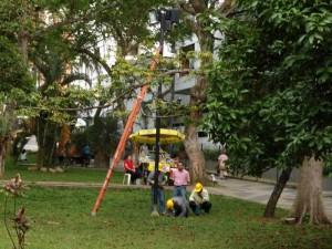 Las peticiones de los visitantes y vecinos del parque San Pío tuvieron alfin eco.