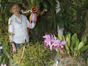 Su atención se la robaron las orquídeas que desde muy joven cultivaba.