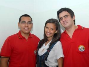 Daniel Ricardo Argüello Plata, Daniela Andrea Esmeral Ordónez y Héctor Guillermo Mantilla Rueda.