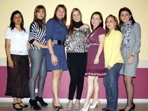 Lucila Rodríguez, Silvia Vera, Claudia Camacho, Genny Sarmiento, Rosaura Mendoza, Marlene Barón y Milena Joya.