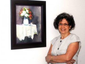 Esta santandereana vivió en España y Bogotá, donde seguía inves-tigando día a día para enriquecer sus obras.