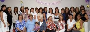 Laura López, Laura Villabona, Martha Guerrero, Berta Ariza, Cecilia de López, Eugenia Peña, Gloria Mantilla, Sandra Cortés, Fabiola Báez y Lorena Contreras.