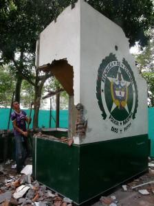 La demolición del CAI fue el fin de semana pasado.