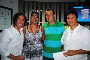 Marlon Becerra, Olga Lucía Gómez, Carlos Alberto Bermúdez y Wilson Díaz.