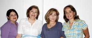 Amparo Gómez, Cecilia Romero, Mabel de Alvarez y Martha Silva.