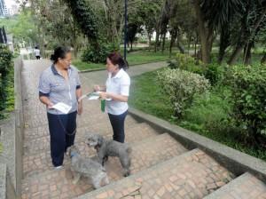 La campaña comprendió diálogos con habitantes del sector y visitantes del parque Puyana.