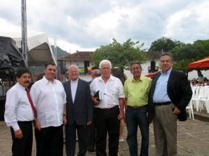 Sergio Rangel Consuegra, Padre Gustavo Galvis Arenas, Julio César Ortiz, José Gregorio Hernández y Víctor Hugo Parra Reyes.