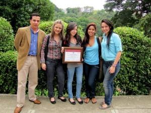 Estudiantes de tercer semestre de Artes Audiovisuales.