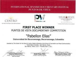El logro lo consiguieron con el documental de 20 minutos titulado 'Pabellón Ellas'