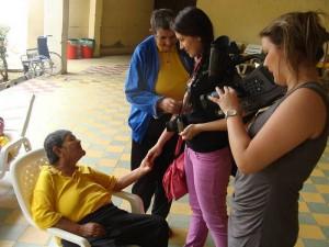 Las jóvenes estuvieron en el rodaje una semana en el centro psiquiátrico.