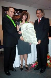 Jairo Durán, Clara Combariza y Carlos Alberto Morales