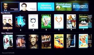 Selección de películas en el Apple TV
