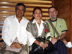 Manuel Jaimes Benilda González y Rafael Quiroz.