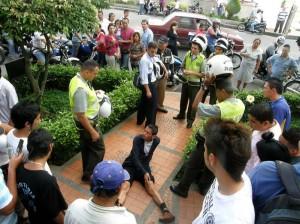 Ladrón detenido por la comunidad en Sotomayor cuando intentaba 'hacer de las suyas'.