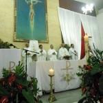 Celebración de la Vigilia Pascual, presidida por Monseñor Carlos Camacho