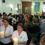 El grupo de lectoras y colaboradoras de la parroquia estuvo en la procesión