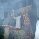 El momento de la Resurrección, cuando sale del sepulcro