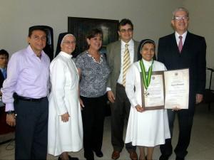 Sergio Angulo, Hna Paulina Blanco, Graciela Torres, José Mora, Hna Yanira Carrillo y José G. Rincón.