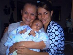 Goza del privilegio de ser madre y abuela alos 78 años de vida.