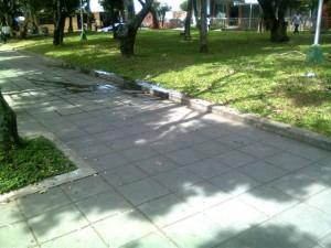 El agua sucia se estaba regando en el parquecito de la calle 54 entre carreras 33 y 32.