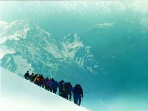 Dia de la cumbe al Elbrus.