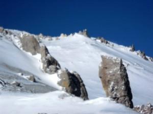 Cerca de la cumbre del Aconcagua, filo de Guanacos 6.600 m.