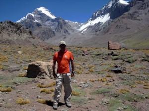 En el Aconcagua.
