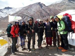 Aconcagua, subiendo al Col del Ameghino, a 5.200 m.
