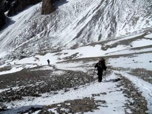 Campo 3, a 5.600 m. en el Aconcagua.