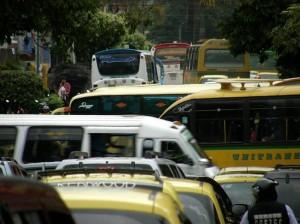 La congestión sobre la calle 52 es notoria desde todo punto de vista